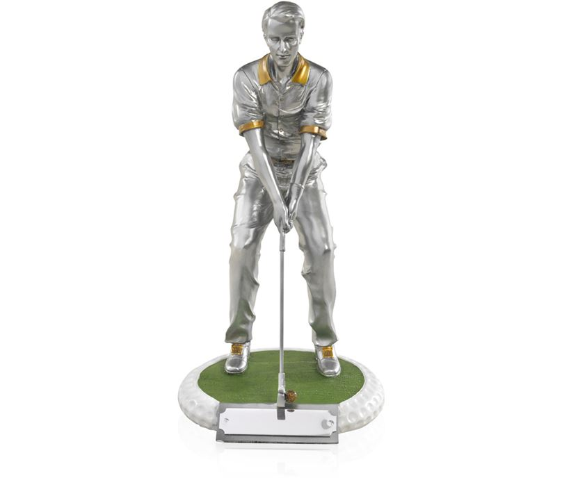 "Male Golfer Standing on a Golf Ball Base 17.5cm (7"")"