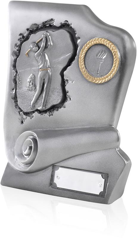 "The Fairways Collection Antique Silver Finish Resin Golf Award 17.5cm (7"")"
