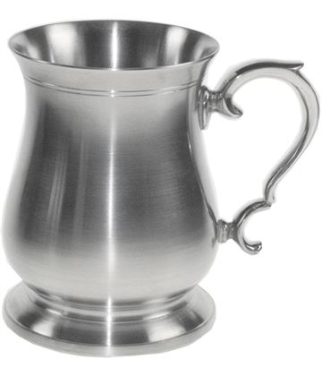 "Extra Heavy Satin Finish Abbey 1pt Sheffield Pewter Tankard 12.5cm (5"")"