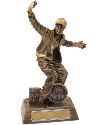 "Antique Gold Resin Male Street Dance Trophy 18.5cm (7.25"")"