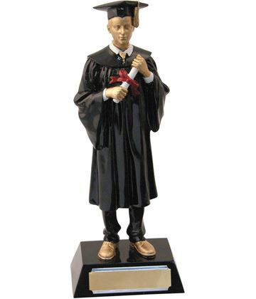 "Male Resin Graduation Achievement Trophy 23.5cm (9.25"")"