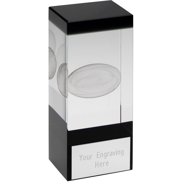 "Rugby Glass Block Award 14cm (5.5"")"
