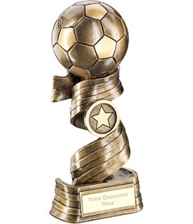 "Football On Swirled Ribbon Trophy 25cm (9.75"")"