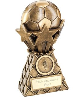 "Football And Stars Net Burst Trophy 15cm (6"")"