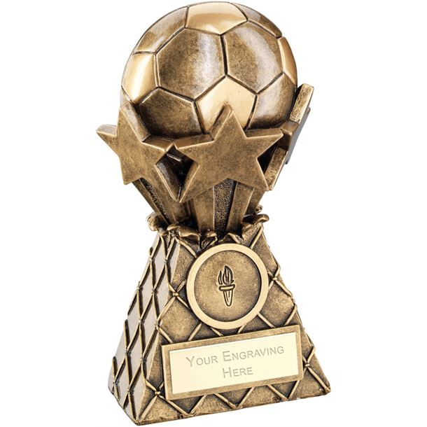 "Football And Stars Net Burst Trophy 12.5cm (5"")"