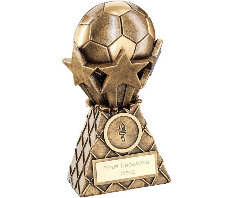 "Football And Stars Net Burst Trophy 18cm (7"")"