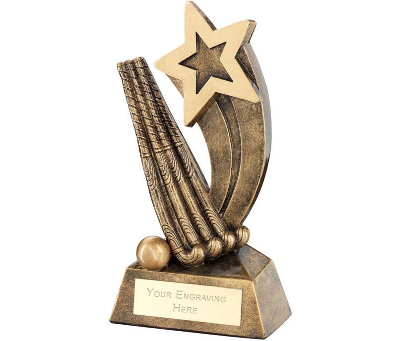 "Hockey Sticks Ball With Shooting Star Trophy 14.5cm (5.75"")"