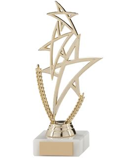 "Gold Rising Star Multi Award Trophy 18cm (7"")"