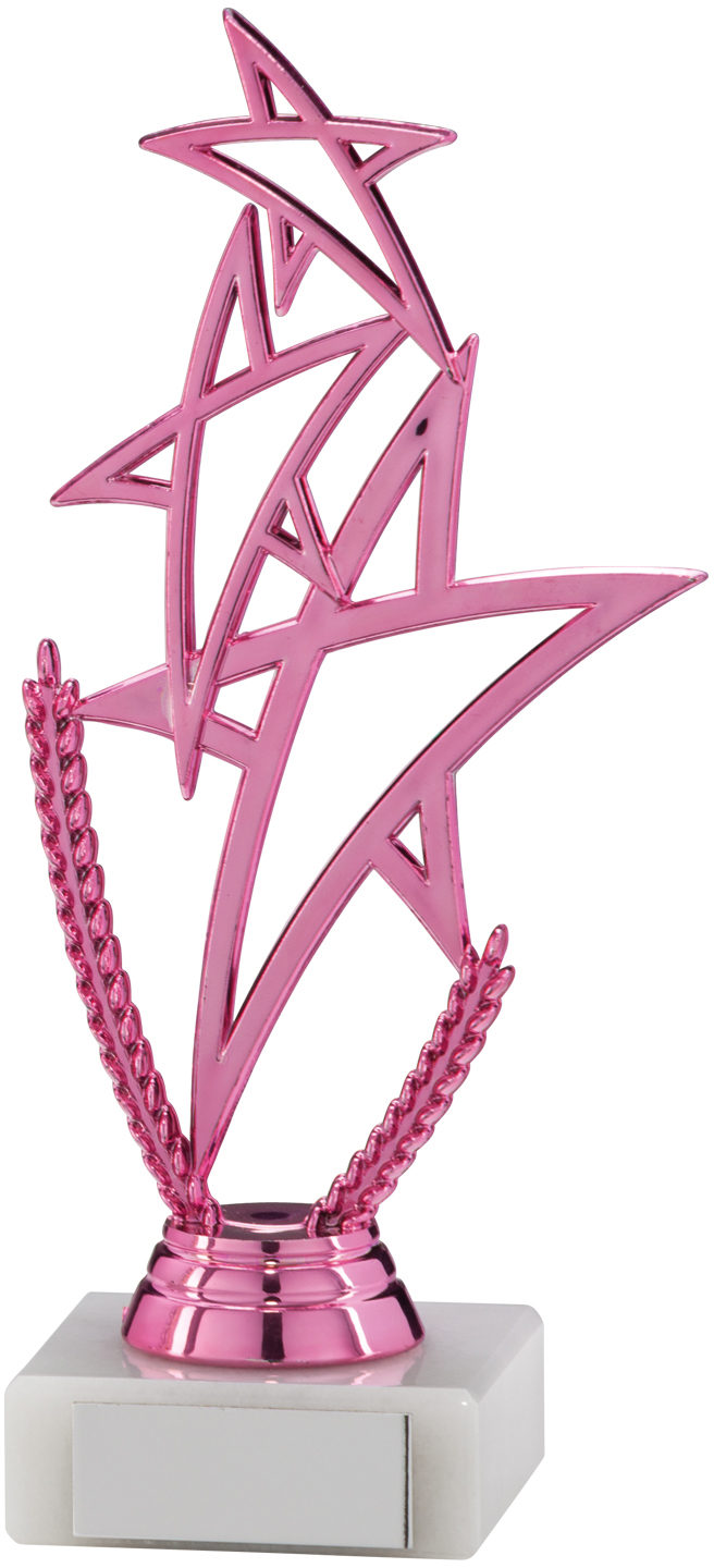 "Pink Rising Star Multi Award Trophy 18cm (7"")"