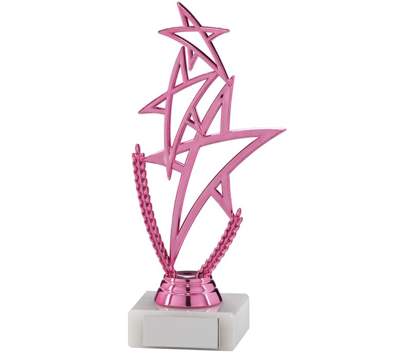 "Pink Rising Star Multi Award Trophy 18cm (7"")"