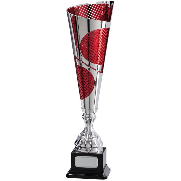 """Quest Laser Cut Silver & Red Cup 38.5cm (15.25"""")"""