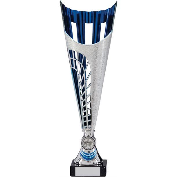 "Garrison Trophy Cup Silver & Blue Series 31.5cm (12.5"")"