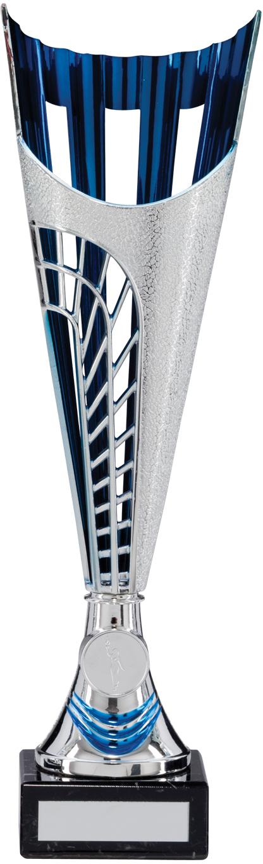 "Garrison Trophy Cup Silver & Blue Series 33cm (13.25"")"