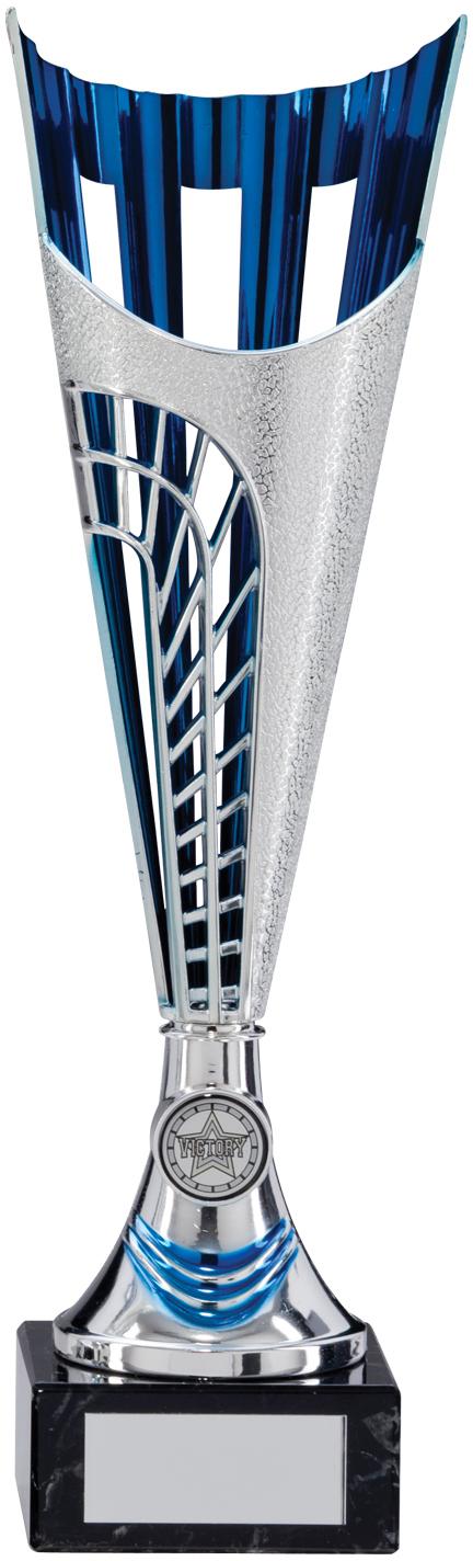 "Garrison Trophy Cup Silver & Blue Series 35cm (13.75"")"