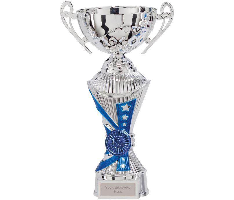 "All Stars Heavyweight Cup Silver & Blue 25cm (9.75"")"