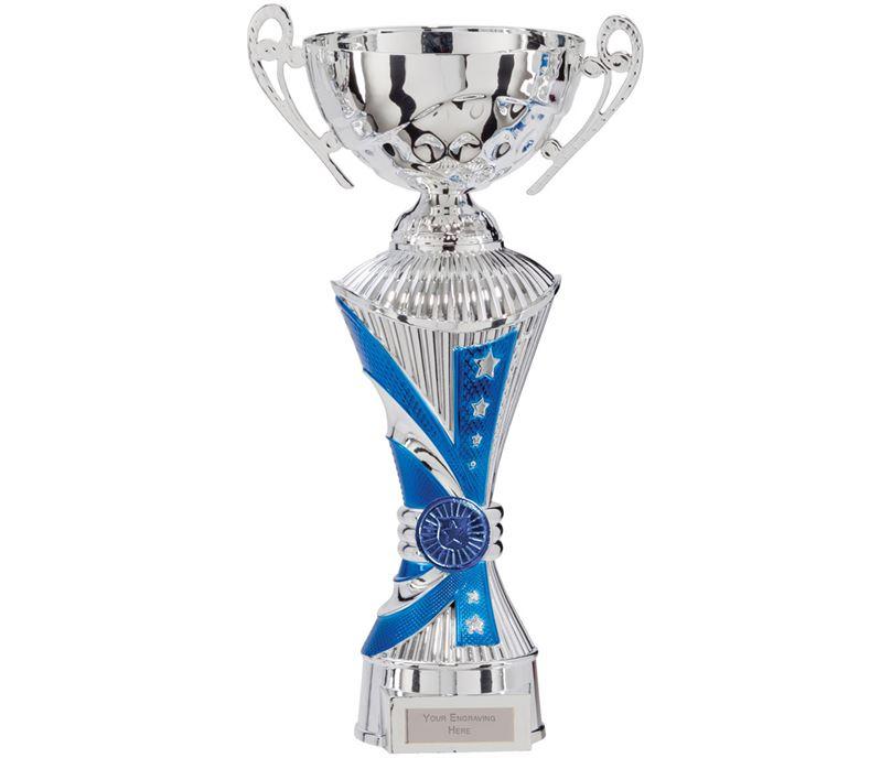 "All Stars Heavyweight Cup Silver & Blue 26.5cm (10.5"")"