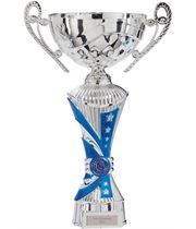 "All Stars Heavyweight Cup Silver & Blue 31cm (12.25"")"