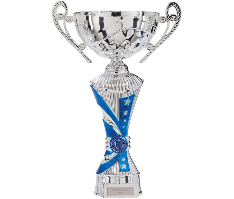 "All Stars Heavyweight Cup Silver & Blue 31cm (12.25"")"