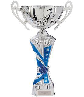 "All Stars Heavyweight Cup Silver & Blue 36cm (14.25"")"