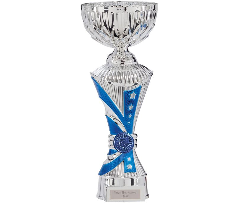 """Astro All Stars Heavyweight Cup Silver & Blue 26cm (10.25"""")"""