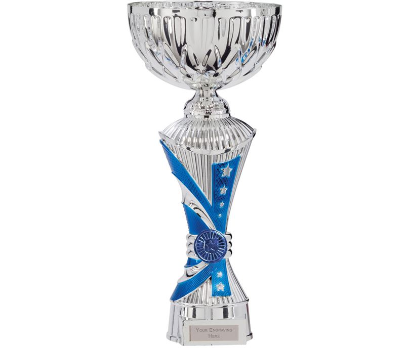 """Astro All Stars Heavyweight Cup Silver & Blue 27cm (10.5"""")"""