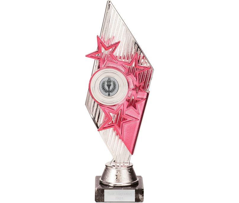 Dance Pizzazz Trophy Silver & Pink 27cm