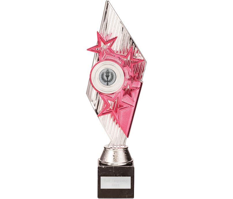 Dance Pizzazz Trophy Silver & Pink 30cm