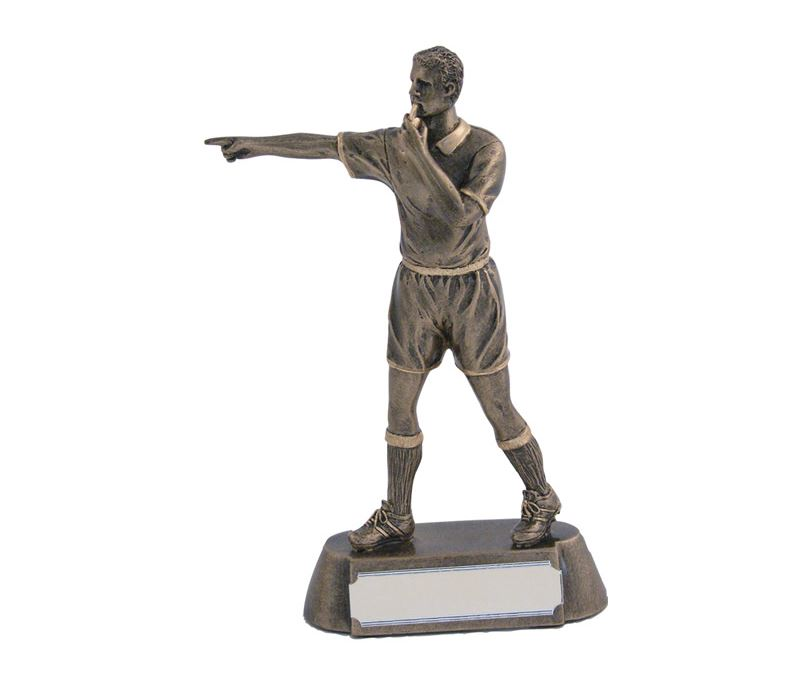 """Antique Gold Referee 'Blowing Whistle' Award 17cm (6.75"""")"""