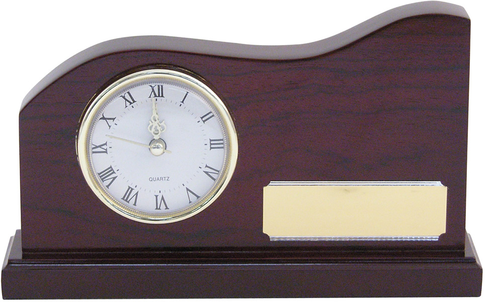 Wooden Presentation Clock 11.5cm x 16.5cm