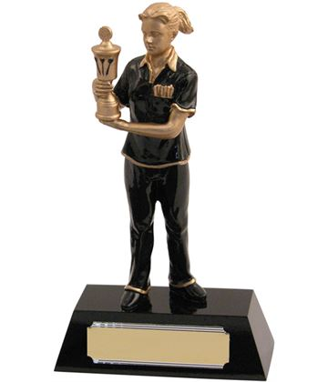"Resin Female with Gold Cup Darts Award 20.5cm (8"")"