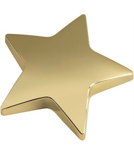 "Gold Star Paperweight 9cm (3.75"")"