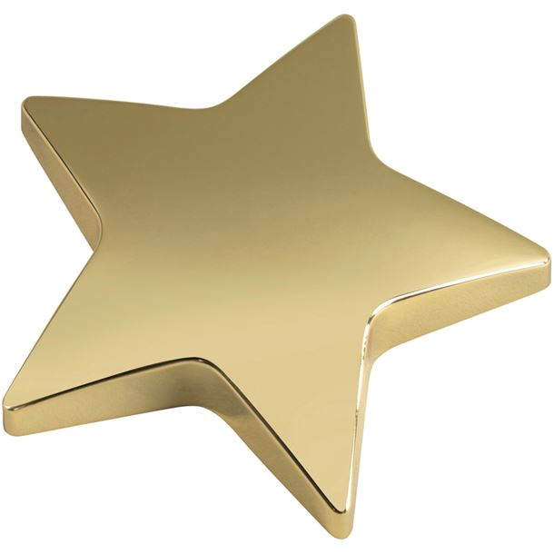 "Gold Star Paperweight 9.5cm (3.75"")"