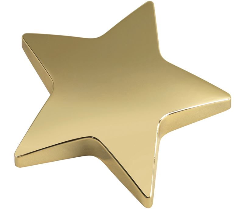 """Gold Star Paperweight 9.5cm (3.75"""")"""