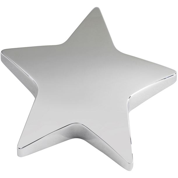 """Silver Star Paperweight 9.5cm (3.75"""")"""