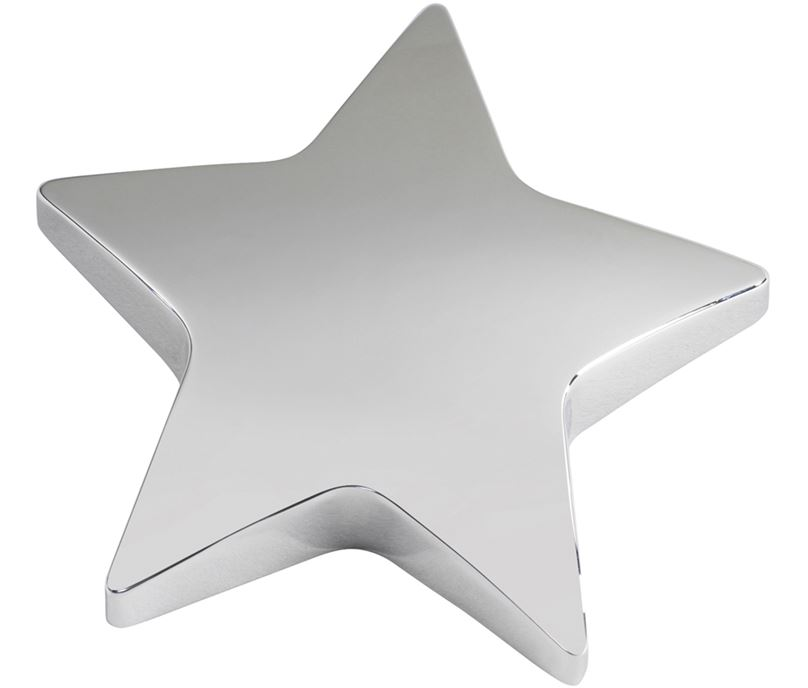 "Silver Star Paperweight 9cm (3.75"")"