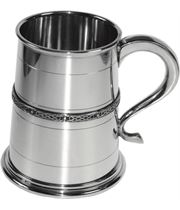"Single Celtic Band 1pt Sheffield Pewter Tankard 12cm (4.75"")"