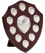 "Silver Annual Perpetual Presentation Shield 25.5cm (10"")"