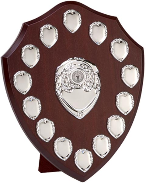 "Silver Annual Perpetual Presentation Shield 30.5cm (12"")"
