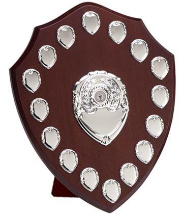 "Silver Annual Perpetual Presentation Shield 35.5cm (14"")"