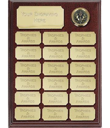 """Rosewood presentation plaque 23cm (9"""")"""