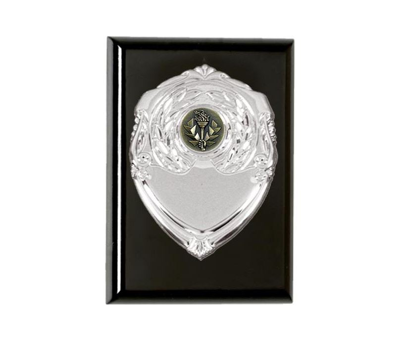 "Ebony high gloss presentation plaques 12.5cm (5"")"