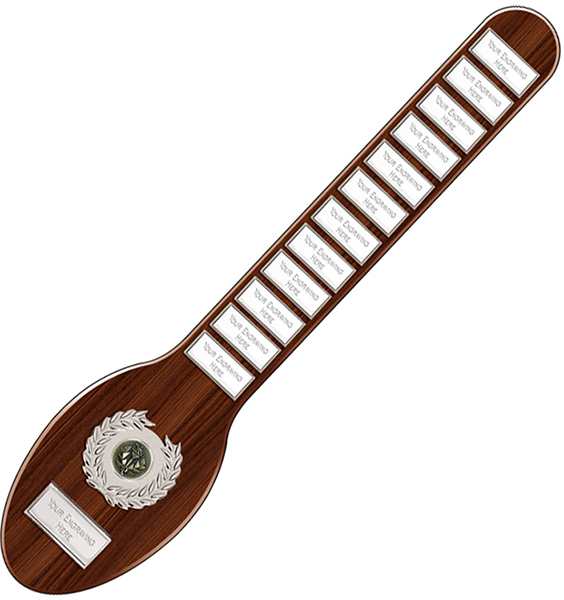 """Large Wooden Spoon Annual Presentation Shield 45.5cm (18"""")"""