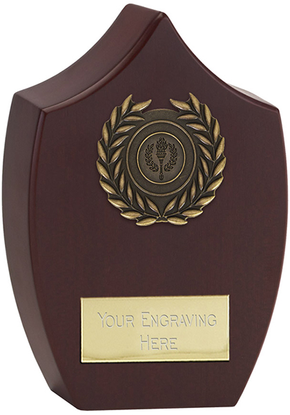 "Heavyweight Rosewood Finished Presentation Plaque 21cm (8.25"")"