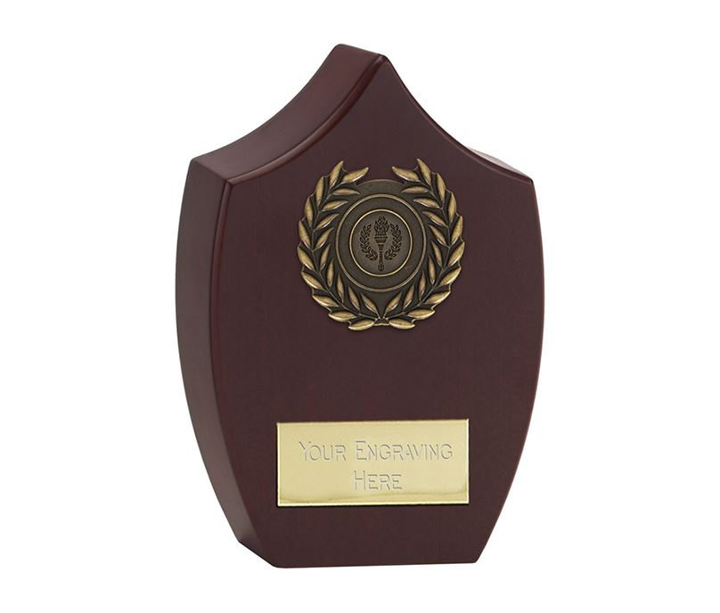 """Heavyweight Rosewood Finished Presentation Plaque 21cm (8.25"""")"""