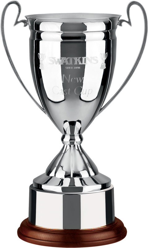 """Nickel Plated Cast Cup with Integral Plinthband 16.5cm (6.5"""")"""
