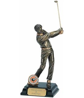 "Male Golf Full Swing Golf Trophy 21.5cm (8.5"")"