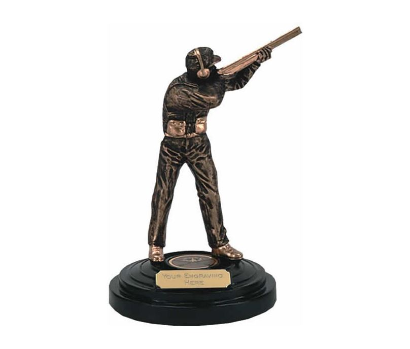 "Clay Pigeon Shooting Trophy Award 14.5cm (5.75"")"