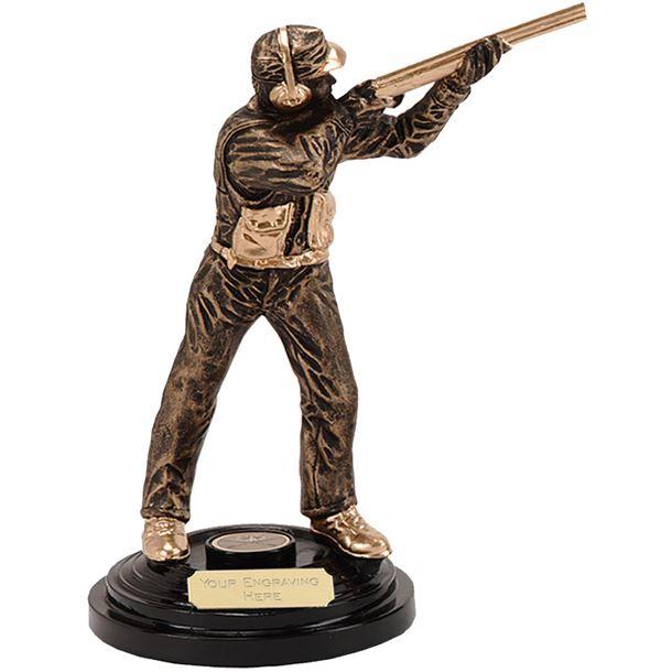 "Clay Pigeon Shooting Trophy Award 21.5cm (8.5"")"