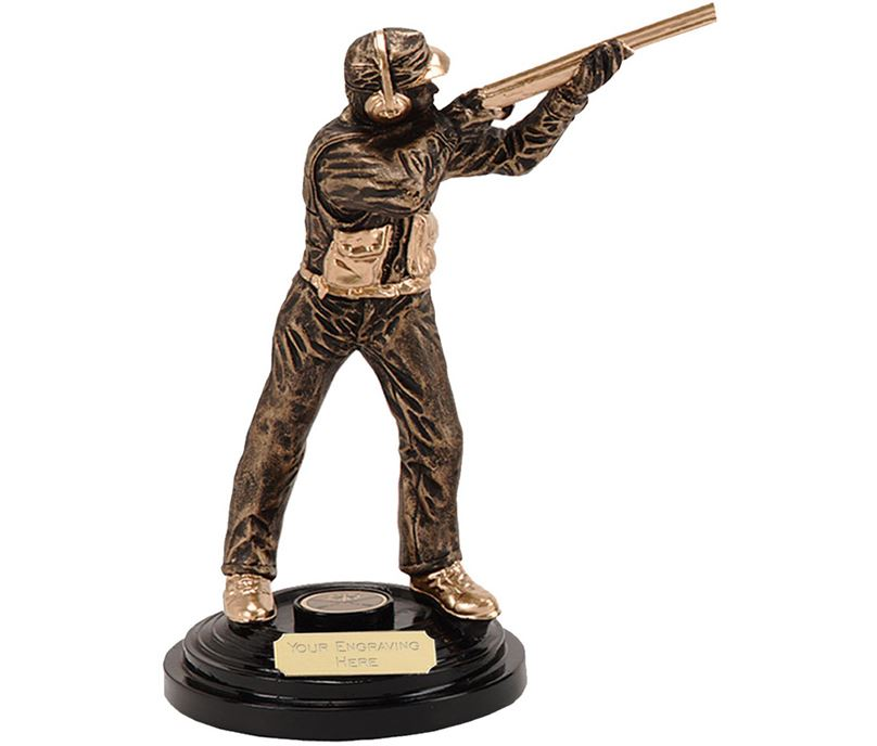 "Clay Pigeon Shooting Trophy Award 21.5cm (8.5"")"