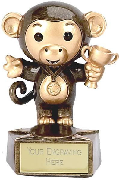 "Monkey Trophy 9cm (3.5"")"